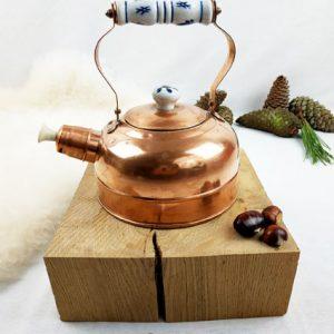 bouilloire en cuivre et porcelaine fabriQémoi