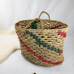 grand sac de plage en osier