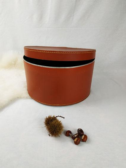 Boite à chapeau de couleur marron fabriqémoi