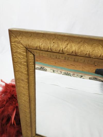 miroir cadre gravure couleur or fabriqémoi