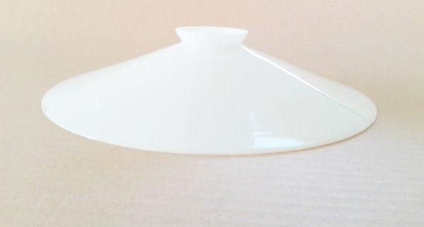 abat jour opaline blanche lisse sans suspension