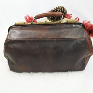 valise de médecin en cuir marron FabriQémoi