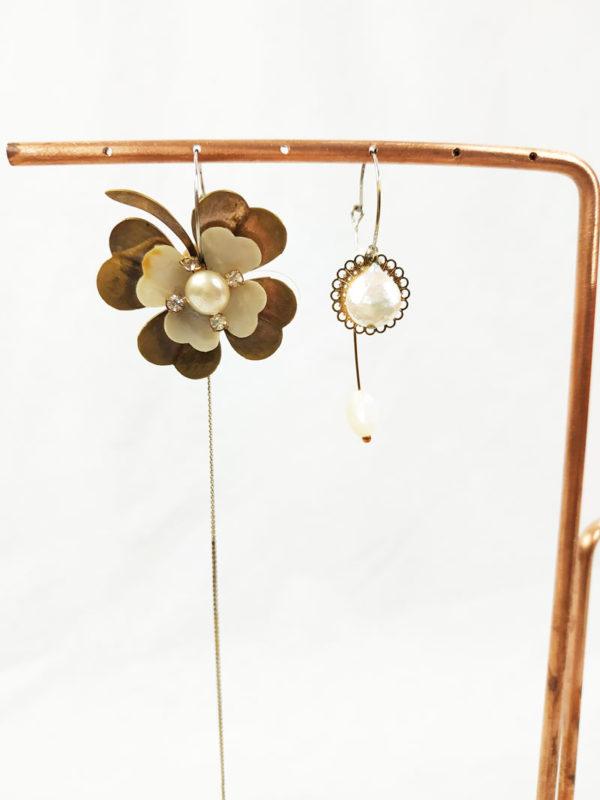 présentoir à bijoux avec tige en cuivre FabriQémoi