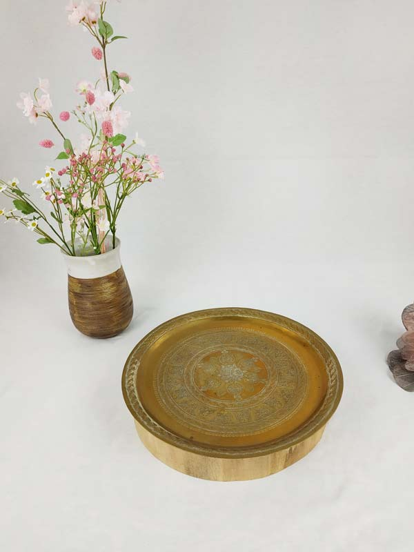 plateau en laiton ovale gravé FabriQémoi