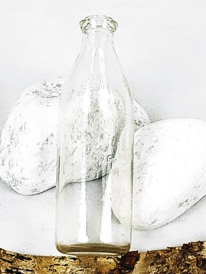 3 biberons anciens en verre de tailles différentes FabriQémoi