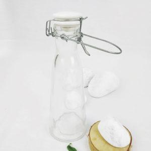 bouteille en verre d'1 l avec fermeture à joint de FabriQémoi