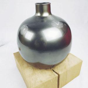 grand vase gris en verre soufflée de FabriQémoi