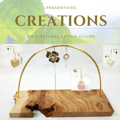 créations de présentoirs à bijoux/ boucles d'oreilles FabriQémoi