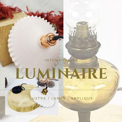 Catégorie luminaire lampe lustre applique FabriQémoi