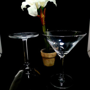Verre à pied pour martini