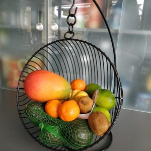 Corbeille à fruit suspendue style industriel de FabriQémoi
