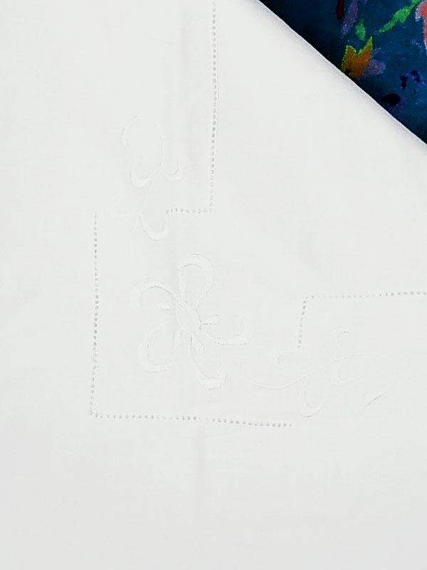 housse d 'édredon ancienne coton damassé 138 cm X 129 cm Fabriqémoi