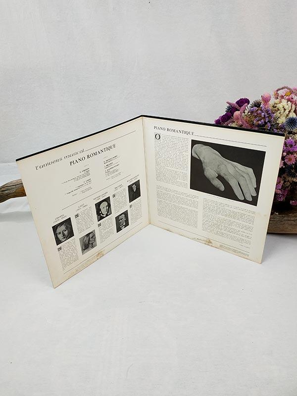 Disque 33 tours de Chopin-Liszt-Mendelssohn-Brahms-Rachmaninoff
