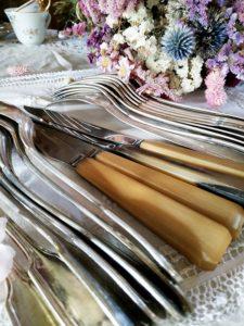 Argenterie couteau fourchette cuillère en argent ou métal argenté FabriQémoi