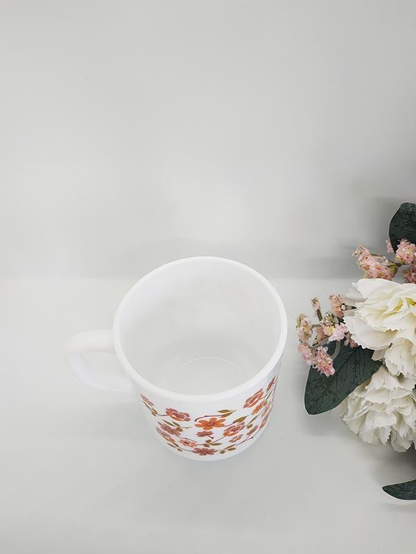 Tasse vintage Fleurie fleurs orange de chez FabriQémoi