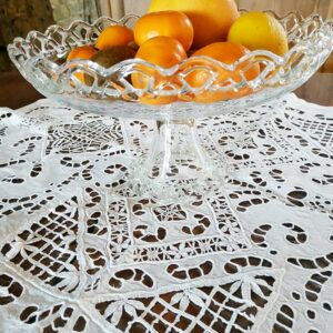 Corbeille à pied en verre vintage de FabriQémoi