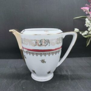 Pot à lait en Porcelaine de Limoge France, doré et bordeaux